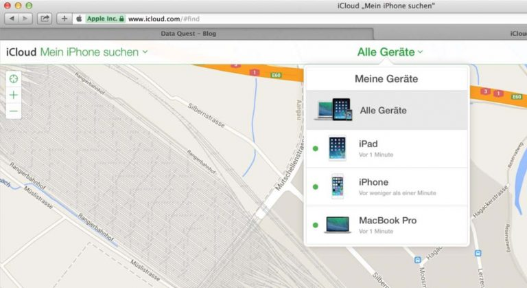 """Du kannst die Funktion """"mein Apple Gerät suchen"""" direkt auf mehreren Geräte aktivieren."""