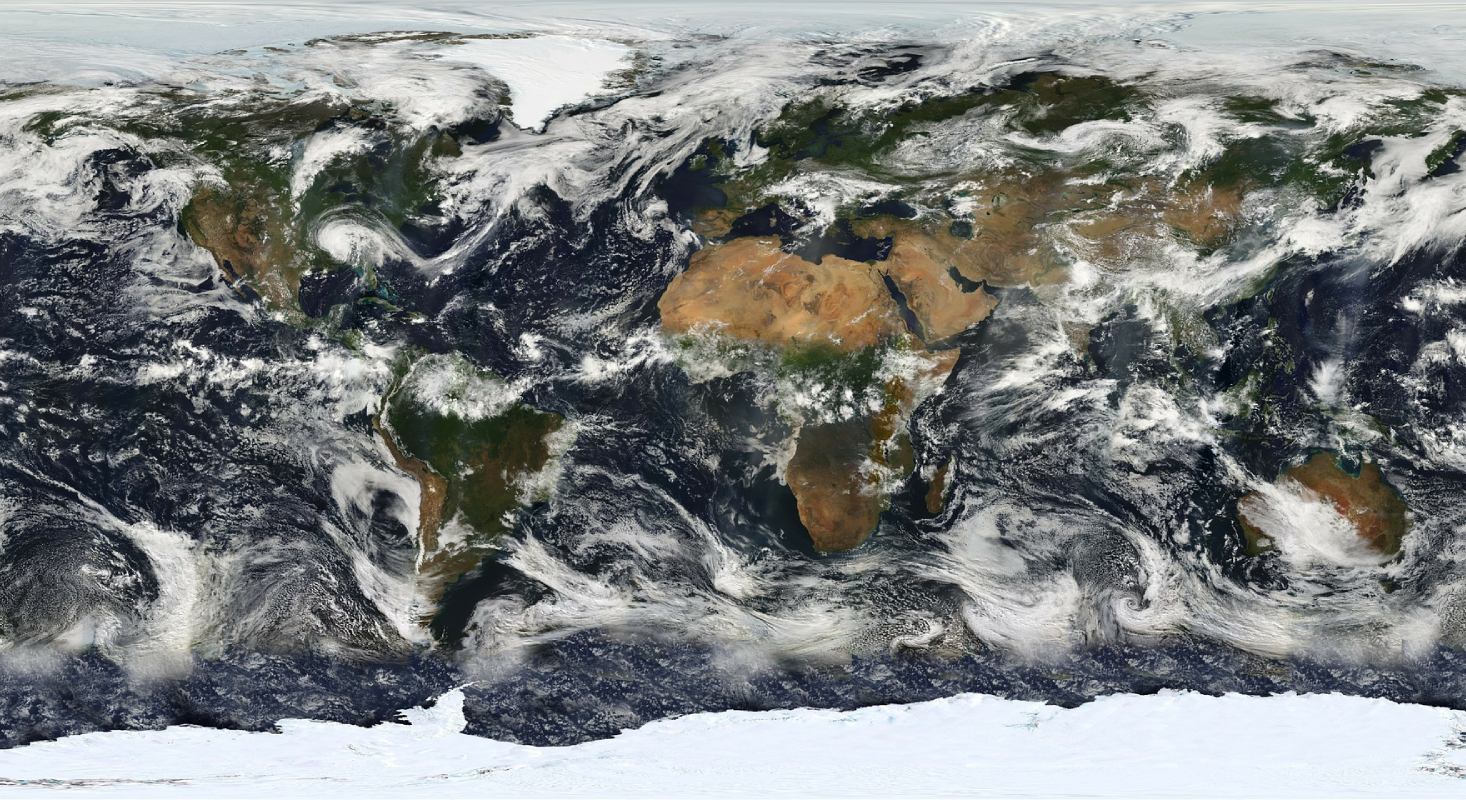 Das Bild zeigt eine Weltkarte, die auch erscheint, wenn man die App öffnet.