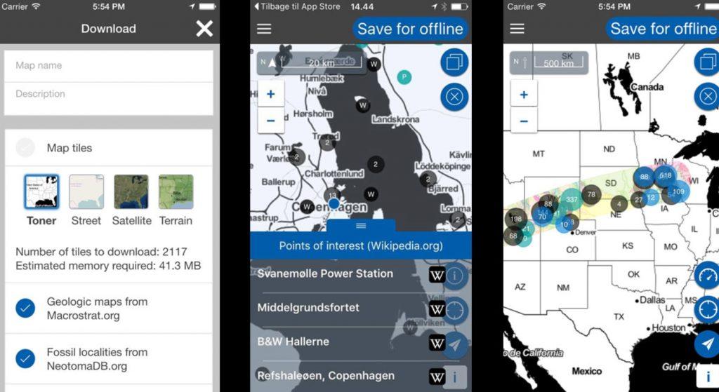 Screenshots veranschaulichen, wie die App aussieht.