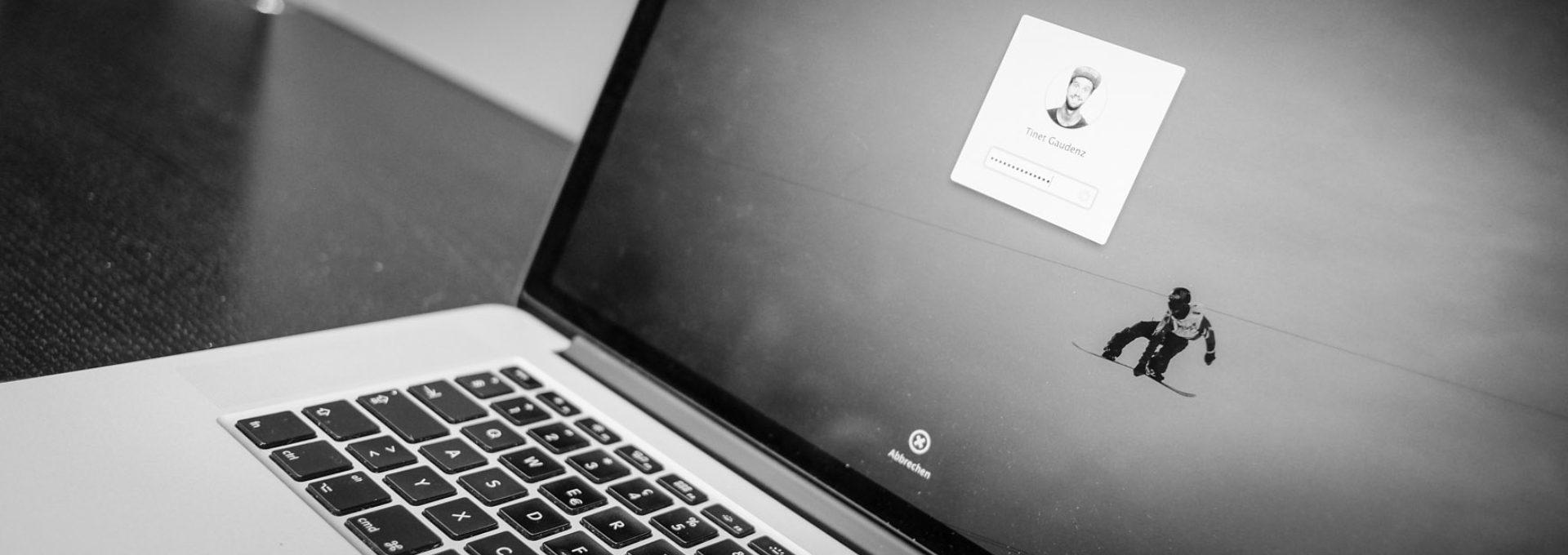 Das Bild zeigt wo das Passwort beim Mac eingegeben wird.