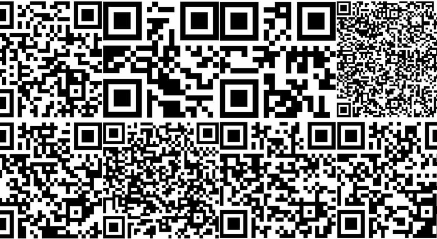 Abgebildet sind verschiedene QR-Codes, damit der Leser sofort versteht, was gemeint ist. QR-Codes lesen und erstellen.