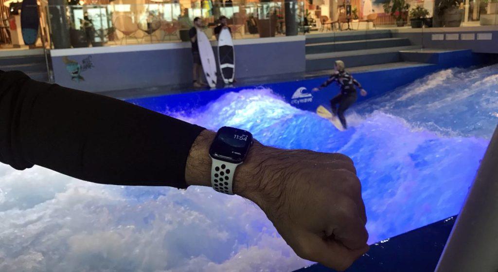 Eine Apple Watch zu tragen im OANA in Ebikon ist spannend. Die Auswertung zeigt unter anderem den Herzschlag, den Kalorienverbrauch und den Topspeed an.