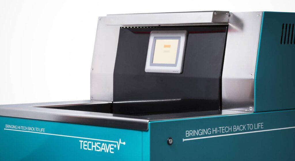 Techsave ist eine Waschmaschine für elektronische Geräte