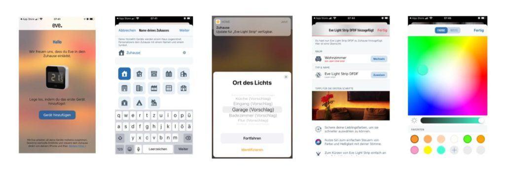 Eve App für Smart Home