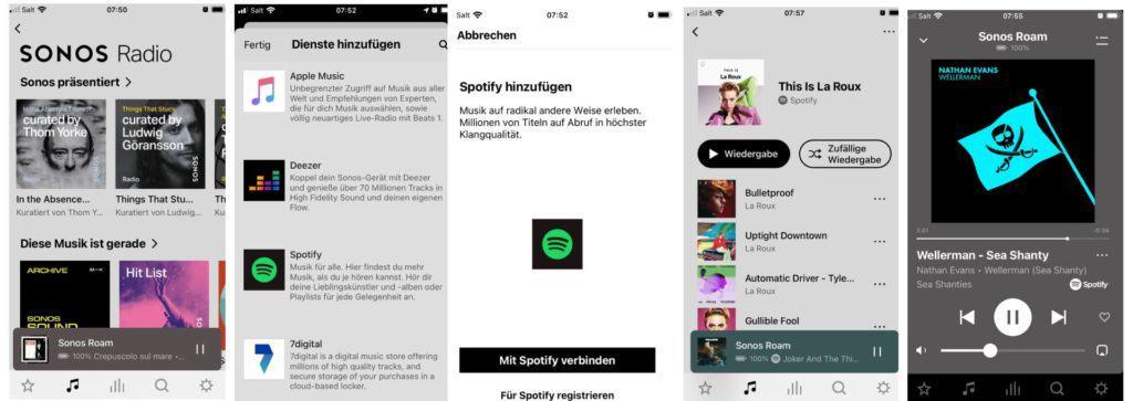 Musik spielen über die Sonos App