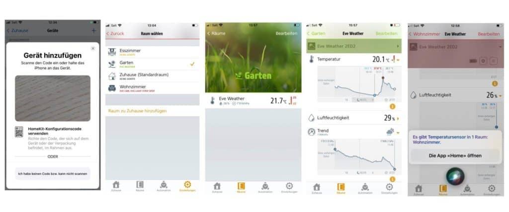 Die Eve App für das Smart Home