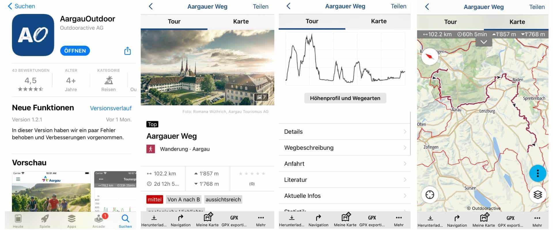 Wander App für den Aargau mit weiteren Aktivitäten