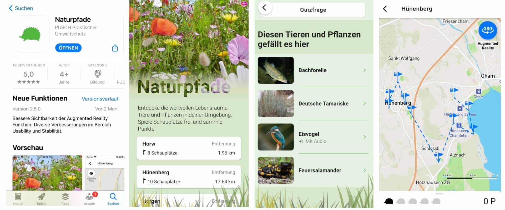 Wander App zum lernen in der Natur
