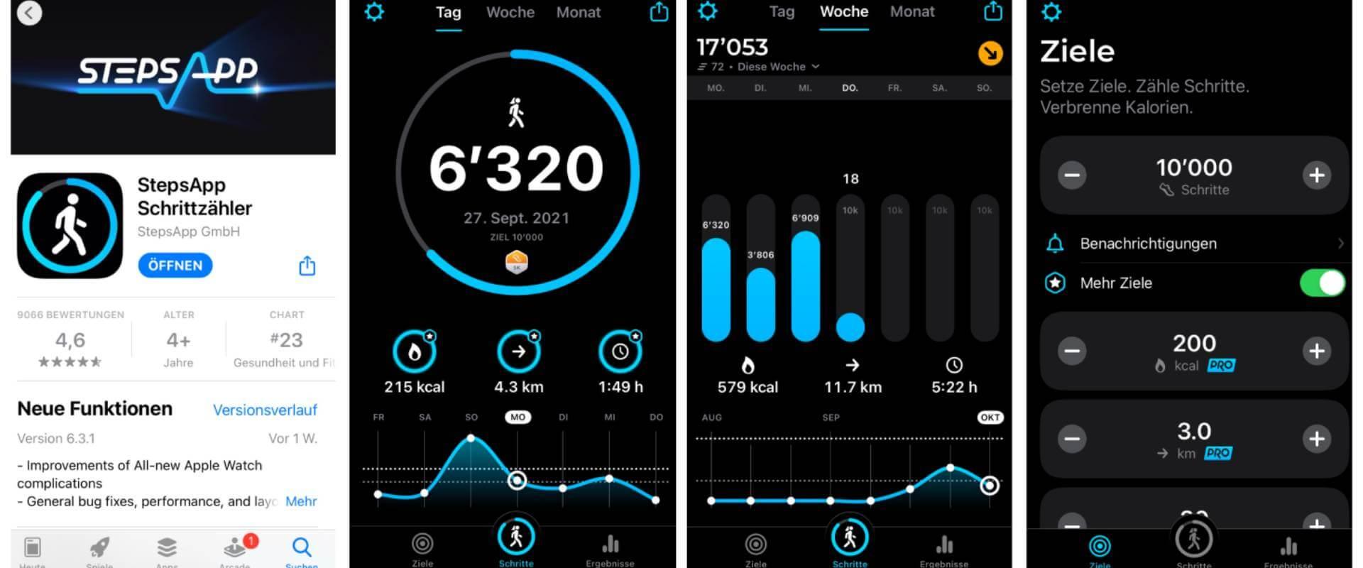 Auch ein Schrittzähler kann als Wander App eingesetzt werden