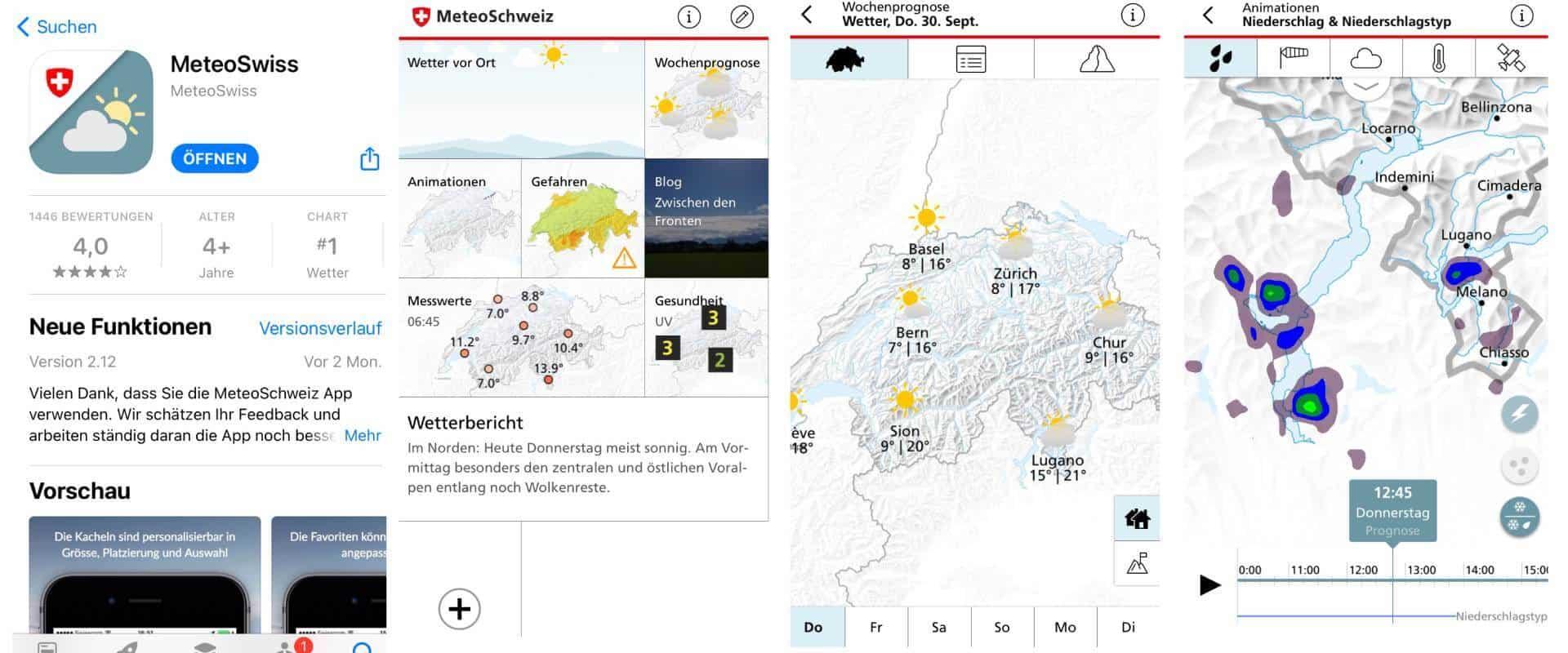 Wanderung vorbereiten - Schweizer Wetter prüfen