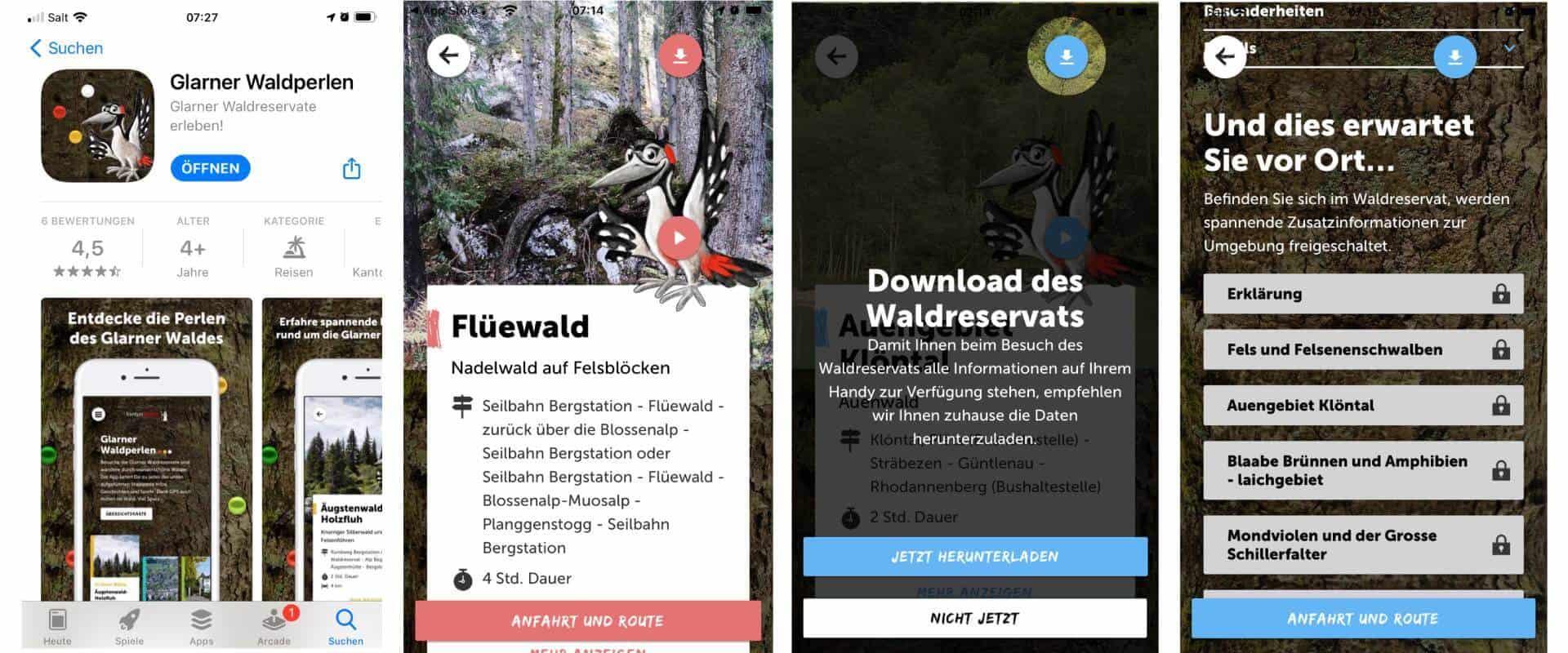 Wander App für Kinder mit Maskottchen